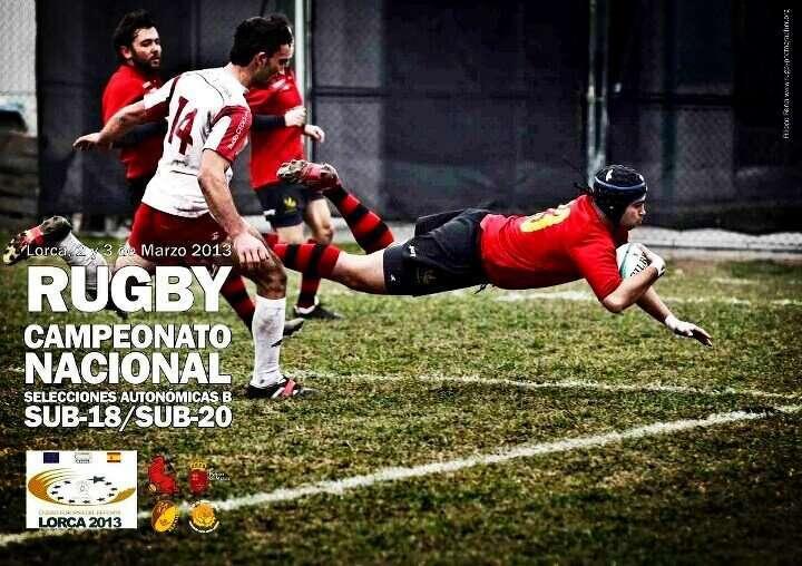 Cartel del Campeonato de España B de selecciones autonómicas. Fotografía: http://www.rugbyphotographer.org/