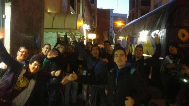 Llegada al hotel de Lorca tras 11 de viaje. Foto de @ErnestoParras15