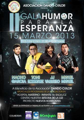 """Cartel de la 2ª Gala: """"Humor para la Esperanza"""""""