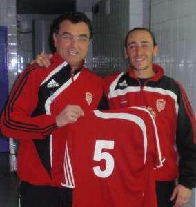 Jerónimo Fernández, con el debutante Gabri.