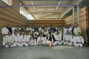 Foto del entrenamiento homenaje en La Granadilla a Javier de la Marta.