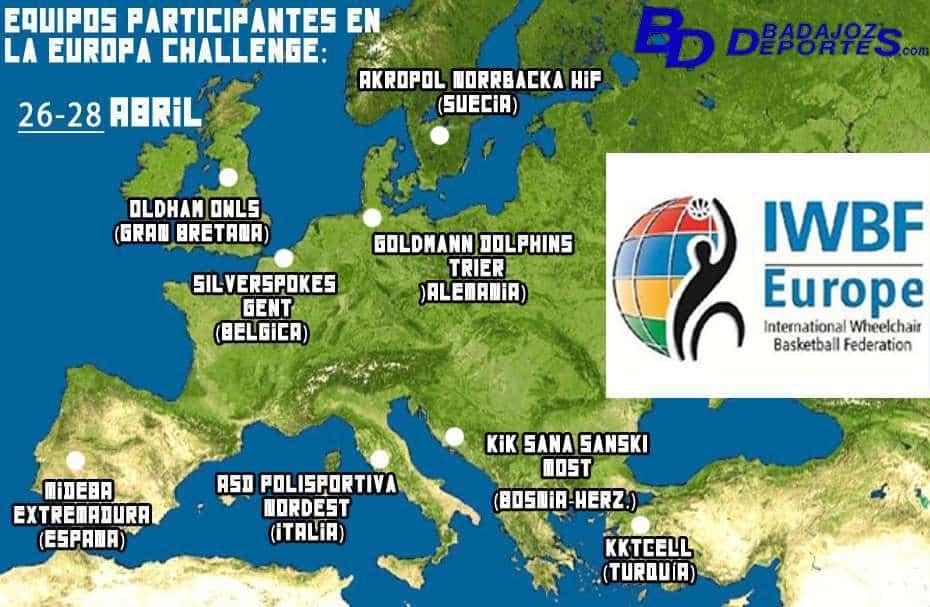 Equipos participantes en el Europa Challenge