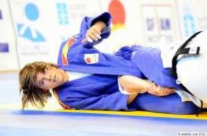 Imagen de la judoka pacense, Ángeles López.