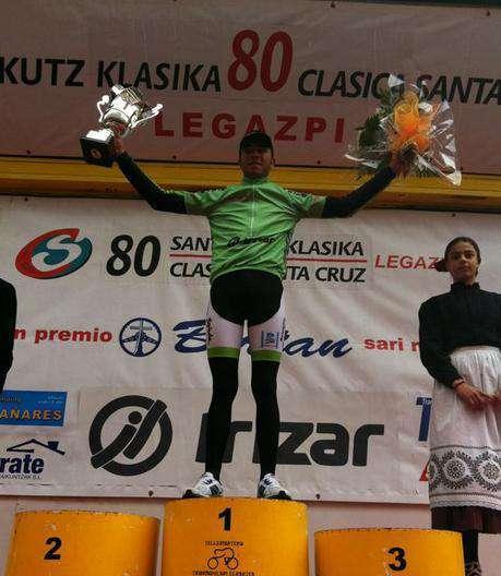 Alberto Gallego en el podio.