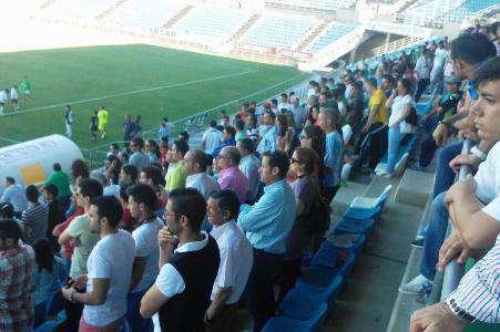 Imagen de las gradas en el encuentro frente al Laredo. Foto: Facebook Badajoz Club de Fútbol.