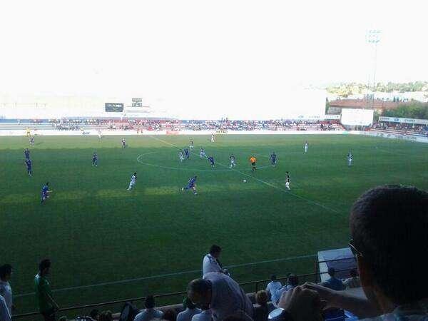Imagen del encuentro en la segunda parte. Foto: Twitter @BadajozClubFtbo