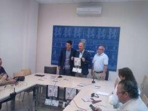 Diego Jaramillo, Junto con el concejal de deportes, M.A. De la Calle, y el presidente de la federación extremeña de Volley, José Carlos Domine.
