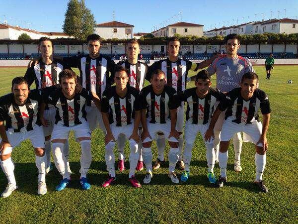 Primer once del Badajoz CF. Foto: Badajoz CF.