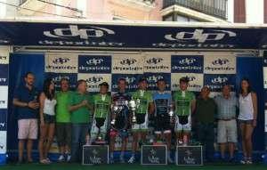 El podium al completo.