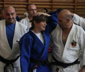 Conchi Bellorín, durante su entreno en La Granadilla.