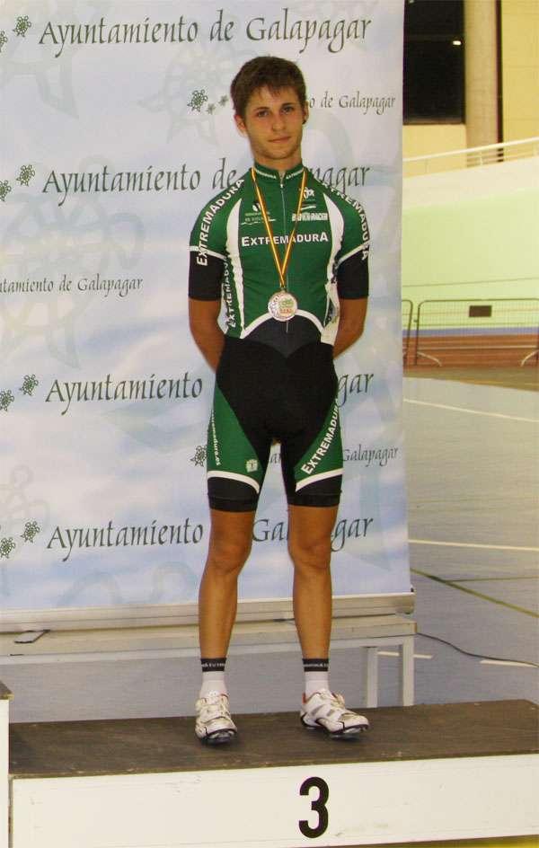 Miguel en el podio.
