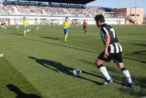 """Óscar Santón """"Golo"""", fue el más destacado del CD Badajoz en la tarde de ayer."""