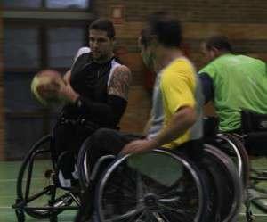 Calderón ayer en el primer entrenamiento.