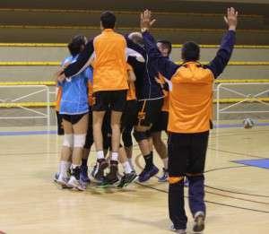 Celebración tras el partido / M.M. Lozano