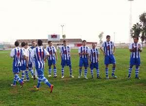 El SC Cerro de Reyes saliendo al terreno de juego en la última jornada de liga.