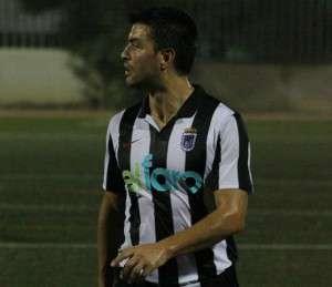 """Óscar Santor """"Golo"""", uno de los grandes peligros del CD Badajoz."""