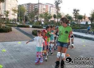 Participantes en una ruta este año / Facebook Patinar por Badajoz