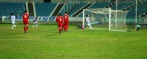 El gol de Sabino supuso el empate a uno en el minuto 20.