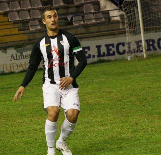 Javi Chino, capitán del Badajoz CF. / Radio Marca Badajoz.