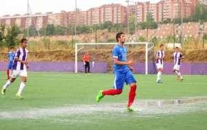 Manuel en el partido de ida ante el Valladolid // IMAGEN DE www.cpdonboscobadajoz.com