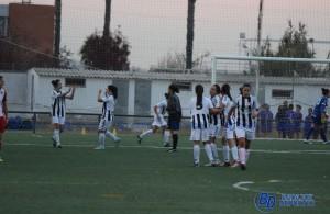 El Badajoz Olivenza celebra un tanto en la final de Copa Federación. POL GARCÍA