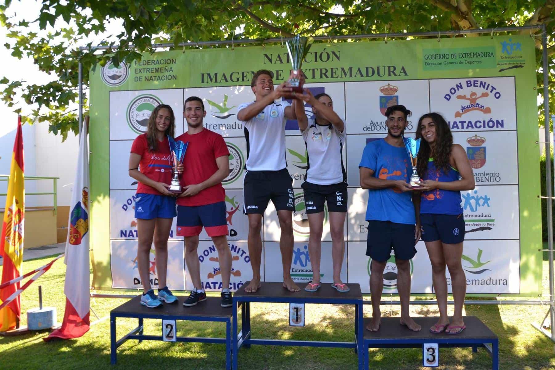 El cn badajoz vence en el regional de verano badajoz for Piscina don benito