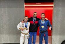Fernando Mera en el Campeonato de España de Grappling con su medalla de plata