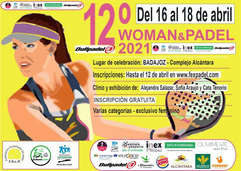 cartel de la 12 edicion de woman & padel